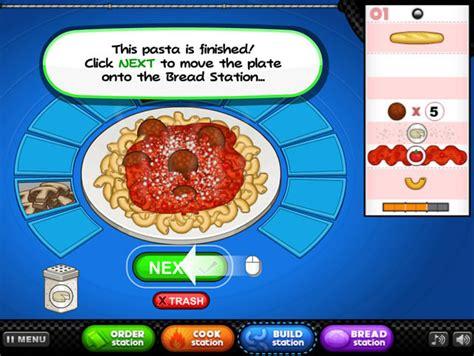 jeu de cuisine papa jouer à papa 39 s pastaria jeux gratuits en ligne avec jeux org