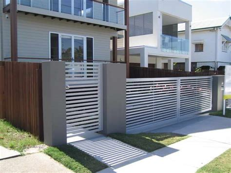 modern minimalist house fence design trend    ideas