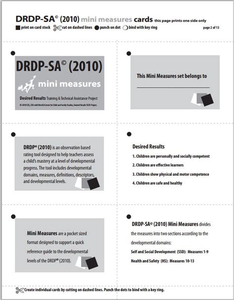 drdp resources desired results for children and families 719 | minimeasureSA