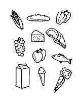 Food Coloring Pages Pantry Template Templates sketch template