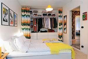 Faire Dressing Dans Une Chambre : astuce d co poser de jolis rideaux pour cacher une ~ Premium-room.com Idées de Décoration