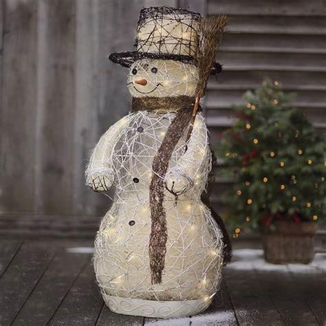 outdoor lighted snowman 9 dreamy outdoor decor ideas https