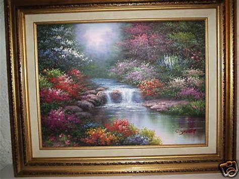 jamesinfo spring brook hand painted oil   jaffey framed