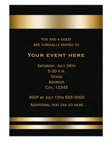 25 Inspirational Dinner Invitation Card Template Free Download
