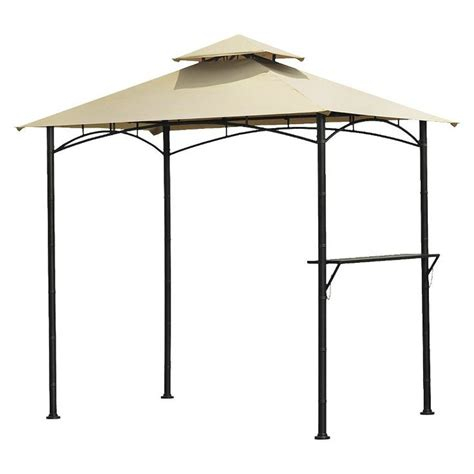 grill gazebo with canopy top outside