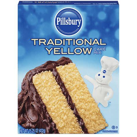 traditional yellow cake mix pillsbury