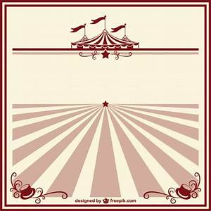 Circus vintage poster template Free Vector | Carnival ...