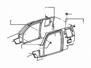 1997 Toyota Tacoma Door Seal  Left  Front   Body  Interior