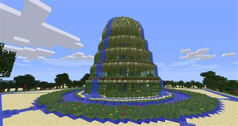 waterfall garden minecraft building