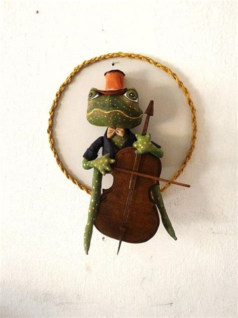 frog, soft art textile creature, The Frong Prince, Nature ...