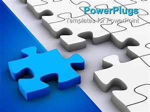 Powerpoint Template  3d Jigsaw Puzzle Pieces  White Puzzle