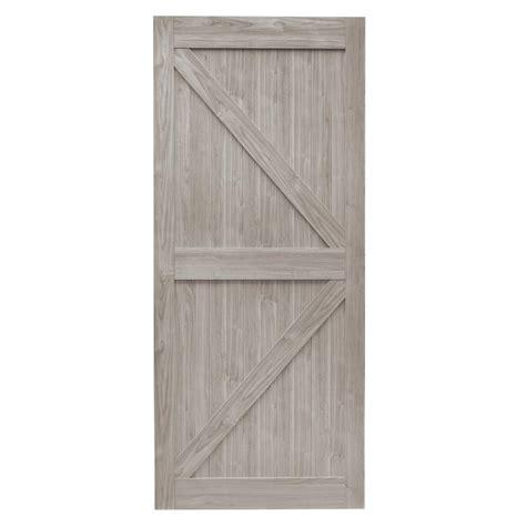 3 panel interior doors home depot truporte 36 in x 84 in grey mdf k frame interior barn