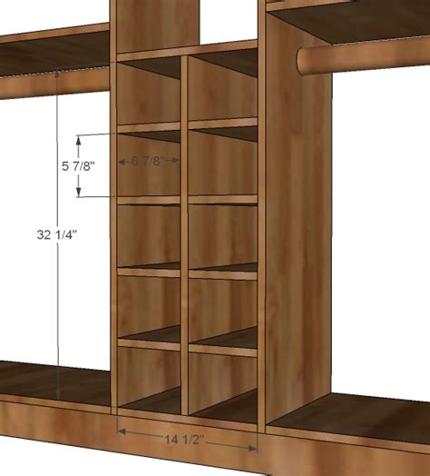 Diy Closet System Plans by White Master Closet System Shoe Cubbies Diy Projects