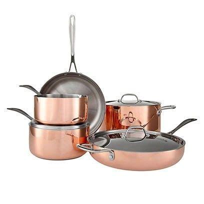 copper pans gold rose kitchen pots lewis john cookware redonline decor utensils