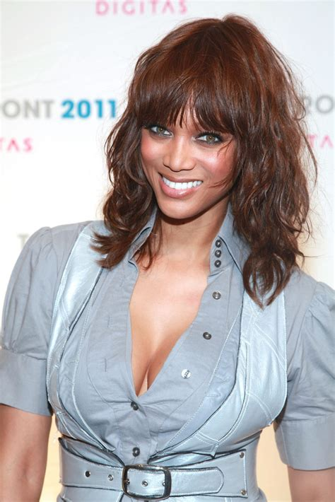 tyra banks medium curls with bangs medium curls with