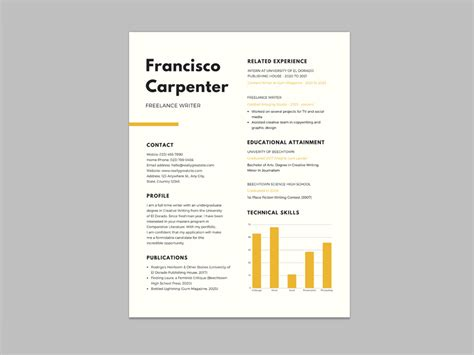 Free Resume Writer by Free Resume Template For Freelance Writer