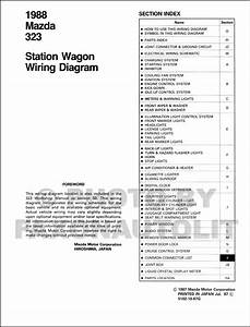 1988 Mazda 323 Station Wagon Wiring Diagram Manual Original
