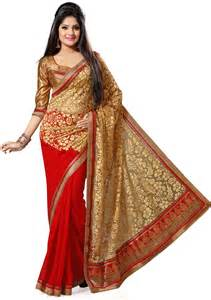 chiffon wedding dresses saree swarg self design georgette brasso sari