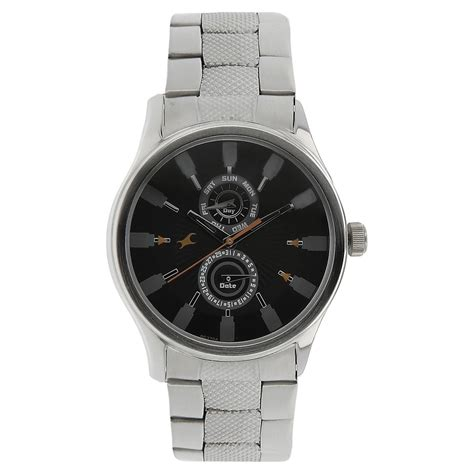 buy fastrack dial steel colour mens watch nf3001sm05 at best price online india titan