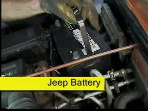 Jeep Battery Replacement Wrangler How Diy Youtube