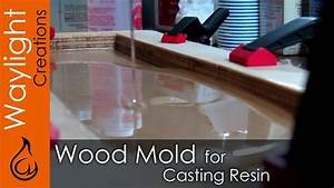 DIY Wood Mold for Resin - Resin EXPERIMENT #1 - YouTube