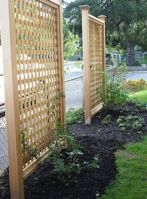 Backyard Privacy Screens Trellis by Step By Step On How To Build Your Own Privacy