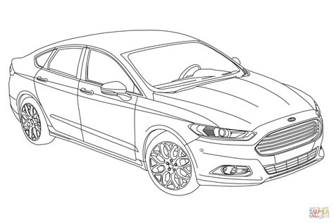 2019 Ford Fusion Coloring Page Free Printable Coloring Pages