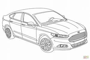2015 ford fusion coloring page free printable coloring pages With 2016 ford focus rs