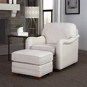 Home, Styles, Heather, Off-white, Arm, Chair, With, Ottoman, 5205-100