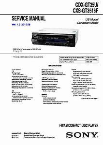 Sony Cdx-gt35u Service Manual
