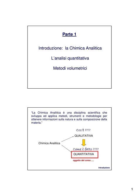 chimica analitica dispense laboratorio di chimica analitica titolazione di miscele