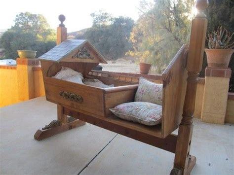 amazing hand  wood fairy tale cradle rocker bassinet