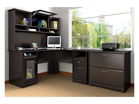 Bush Furniture Cabot L-desk With Hutch And Honest Kitchen Force 10 Lb Cherry Wood Kitchens Wall Exhaust Fan Tile For Backsplash Highland Park Aid Microwave Oven Chinese Bridgeport Oil Rubbed Bronze Accessories