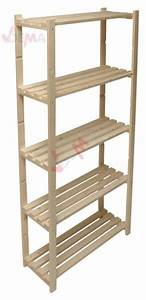 Etagere En Pin : tag re en bois de pin non trait rangement ~ Teatrodelosmanantiales.com Idées de Décoration