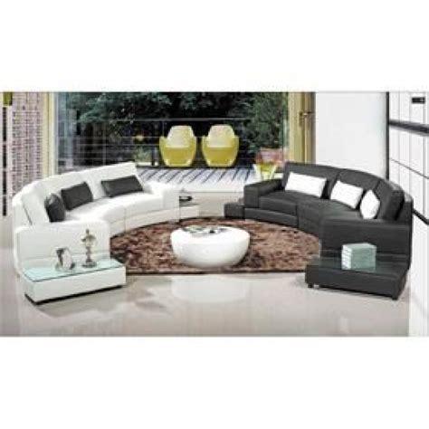 canapé d 39 angle arrondi cuir noir atlanta achat vente