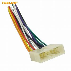 Feeldo 5pcs Car Stereo Audio Wiring Harness Adapter Plug Male For Wuling Fudi Factory Oem Radio