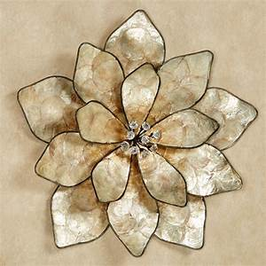 eloquence bloom capiz shell flower wall art With flower wall art
