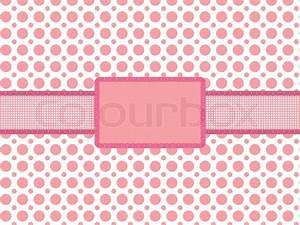 Pink polka dot background with vintage holiday frame ...