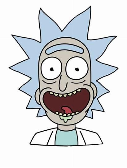 Rick Morty Sanchez Face Transparent Cartoon Drawings