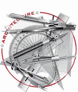 Set Of Drawing Tools  Engineering Symbol  Vector Clip