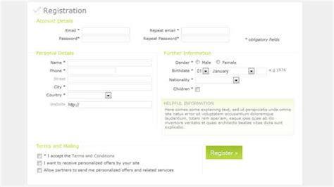 60 html css sign up registration form