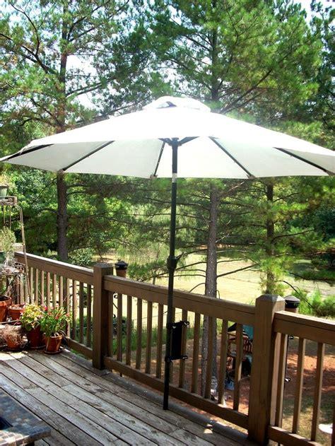 Umbrella Backyard by Umbrella Mounts Umbrella Mount For The Deck Space Saver