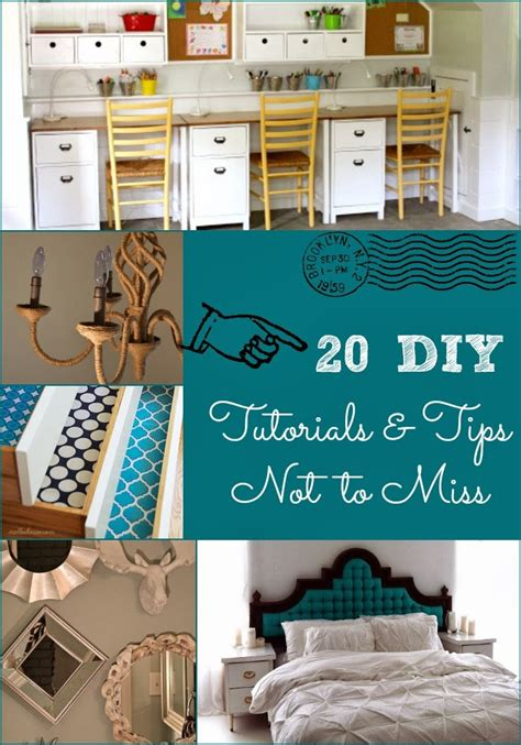 20 Diy Tutorials Tips Not To Miss Diy Craft Projects