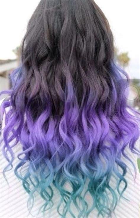 Black Purple Blue Ombré Long Weave Brazilian