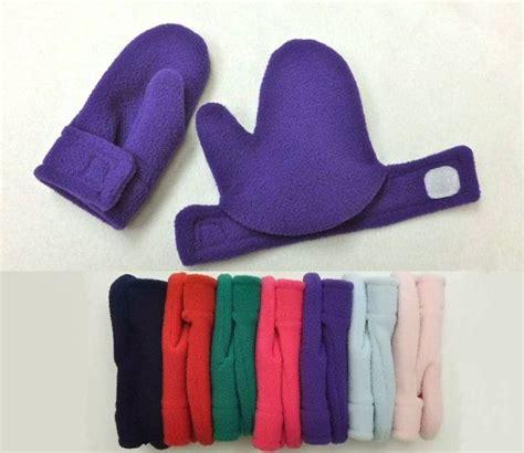 toddler child mittens easy  polar fleece velour