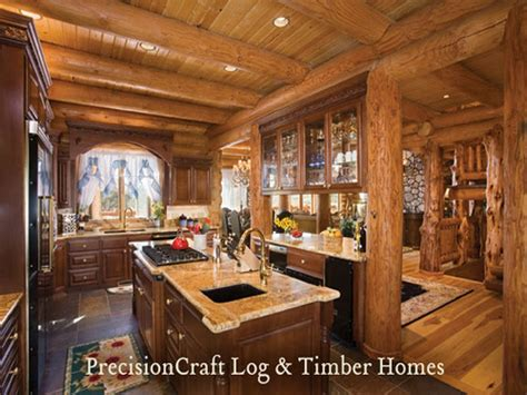 Extreme Log Home Interior Log Home Kitchen Designs, Rustic