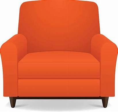 Armchair Clipart Chair Vector Chairs Orange Clip