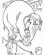 Circus Coloring Printable Pages Below sketch template