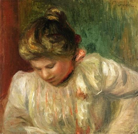 Bust Of A Girl 1900 Pierre Auguste Renoir