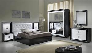Armoire Noir Et Blanc : armoire design 4 portes avec miroir laqu e blanche et noire appoline armoire 4 portes ~ Preciouscoupons.com Idées de Décoration
